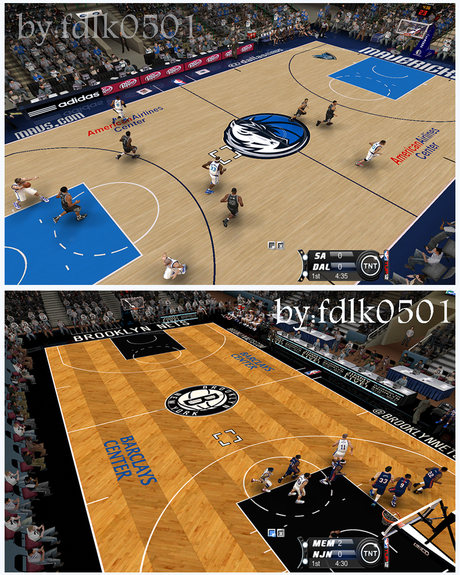 Brooklyn Nets & Dallas Mavericks 2012/2013 Court Patch