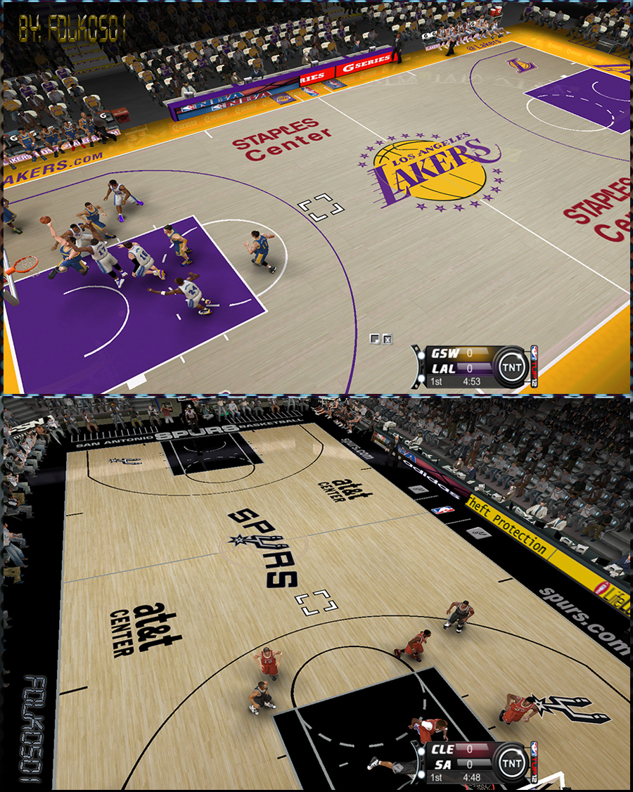 Los Angeles Lakers & San Antonio Spurs 2012/2013 Court Patch