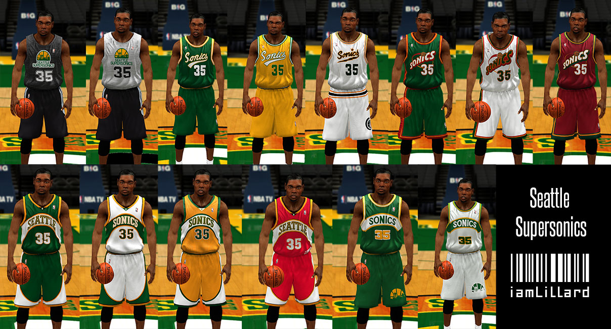 UJP Seattle Supersonics Jersey