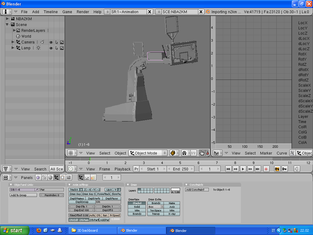 Real Backboard 3D Structure