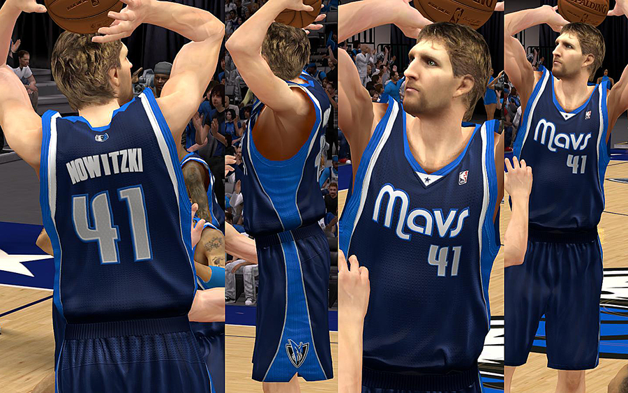 Dallas Mavericks Jersey with Crowd Fixed