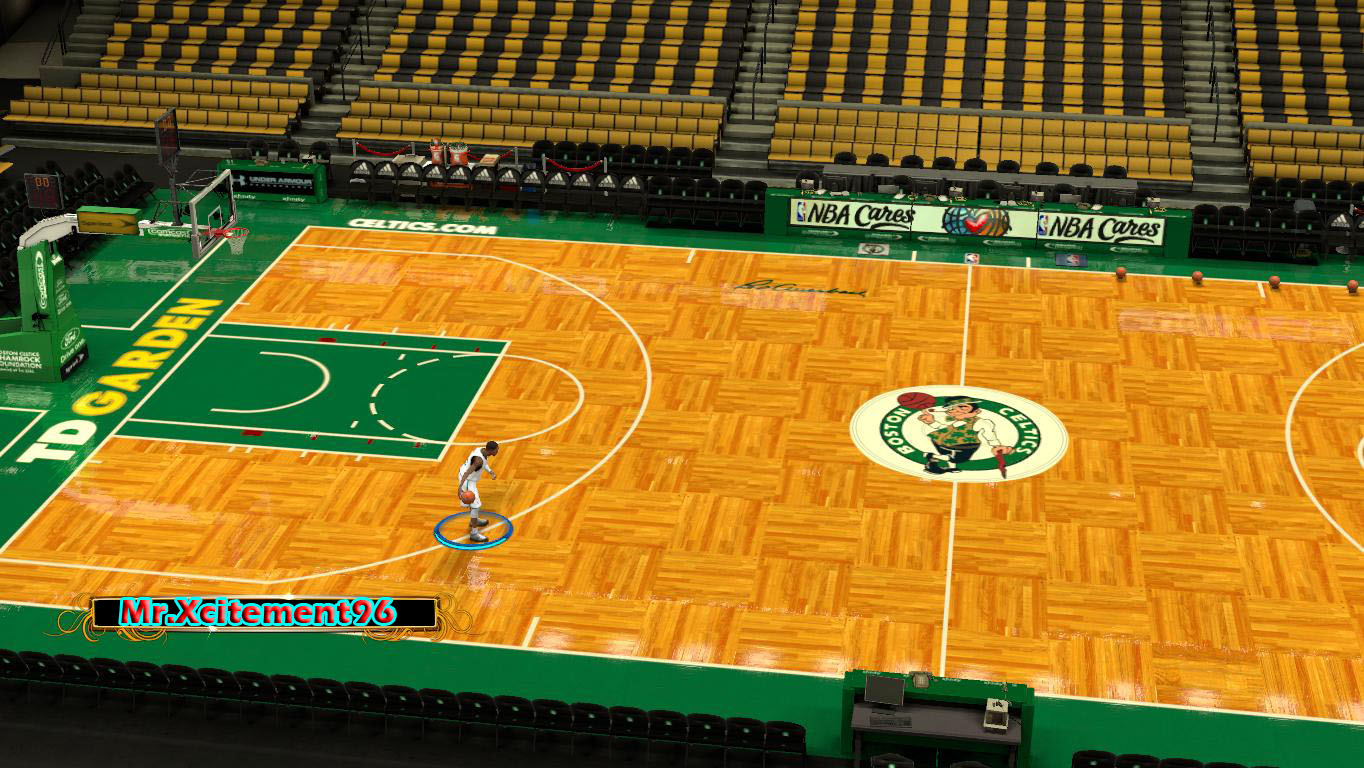 TD Garden with Red Auerbach Signature