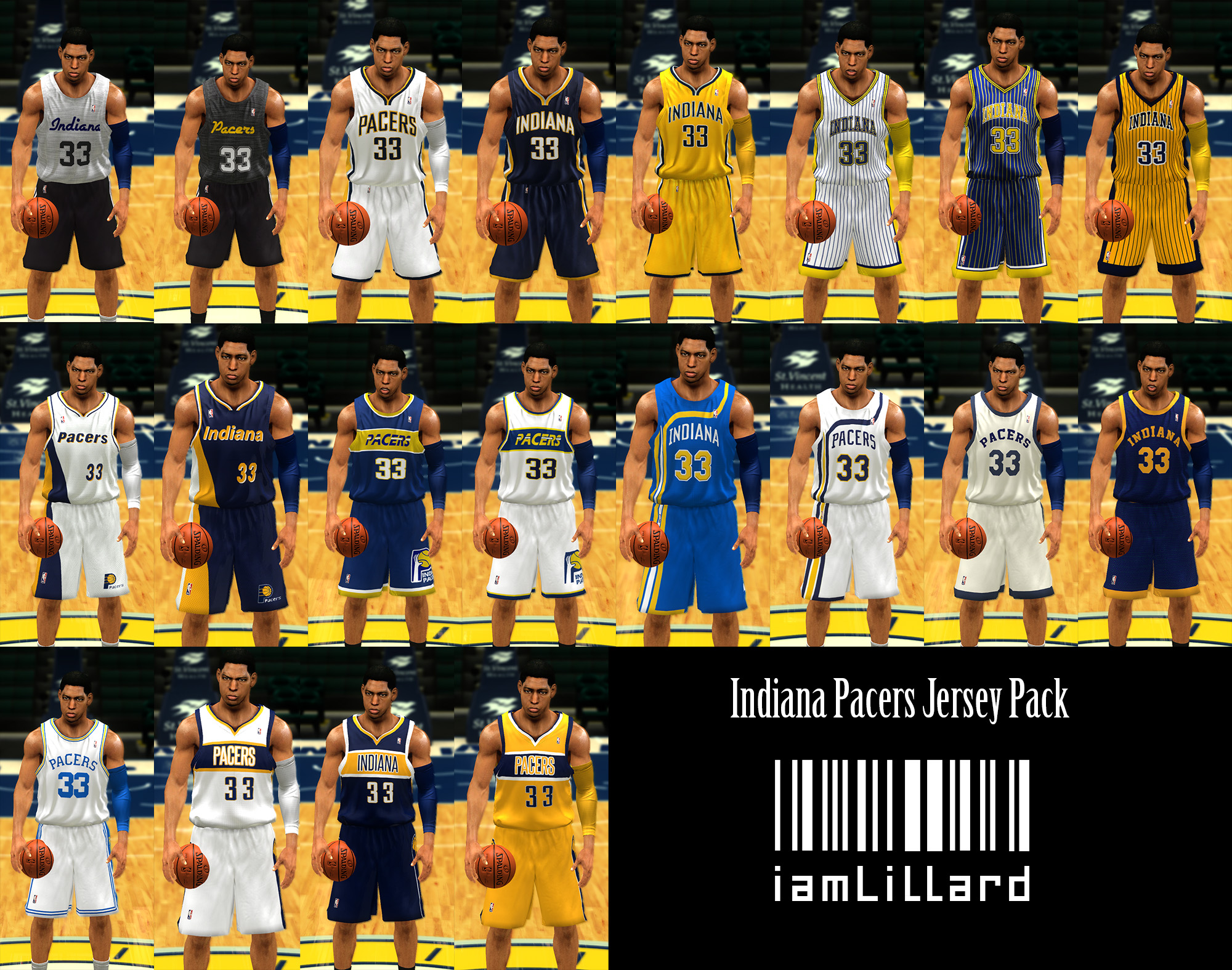 UJP Indiana Pacers Jersey