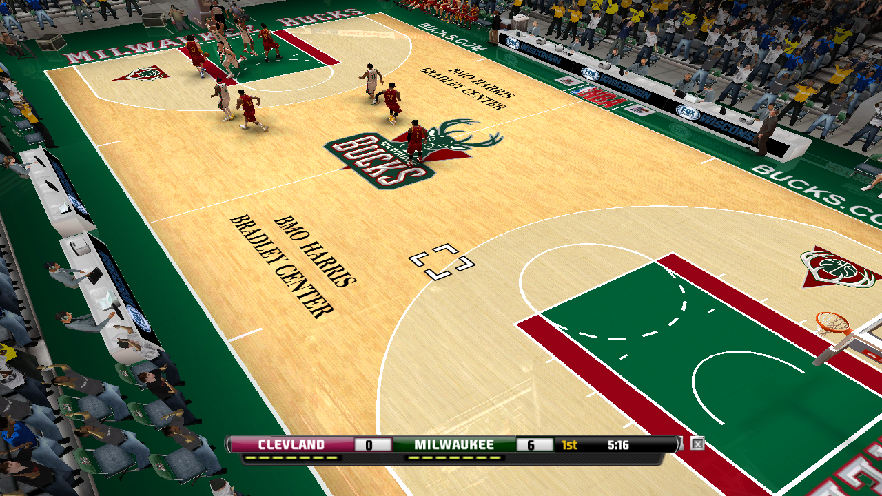 Milwaukee Bucks 2012/2013 Court Patch