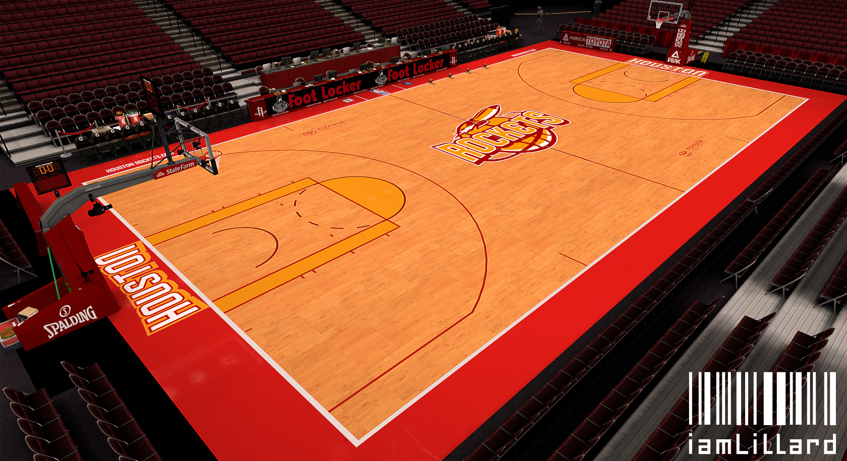Houston Rockets Fictional Court