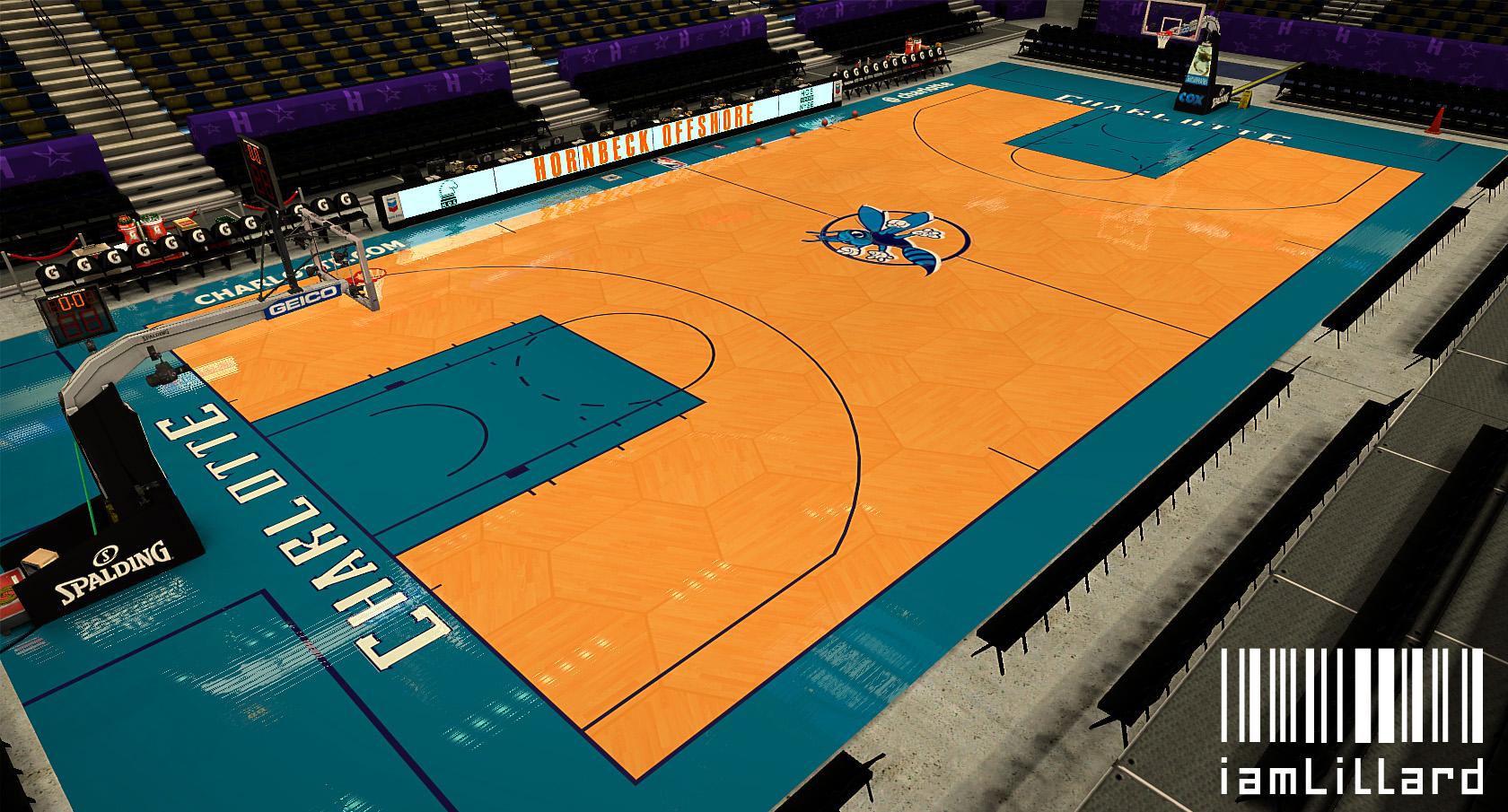 Charlotte Hornets Fictional Honeycomb Court