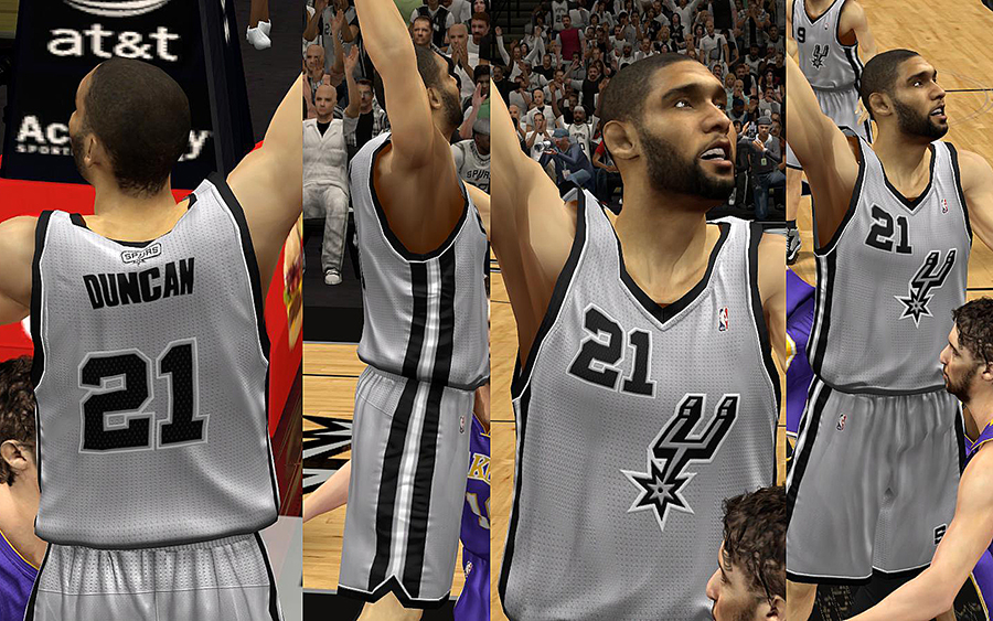 San Antonio Spurs Jersey with Crowd Fixed