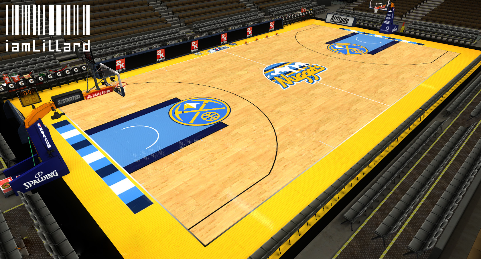 Denver Nuggets Fictional Court
