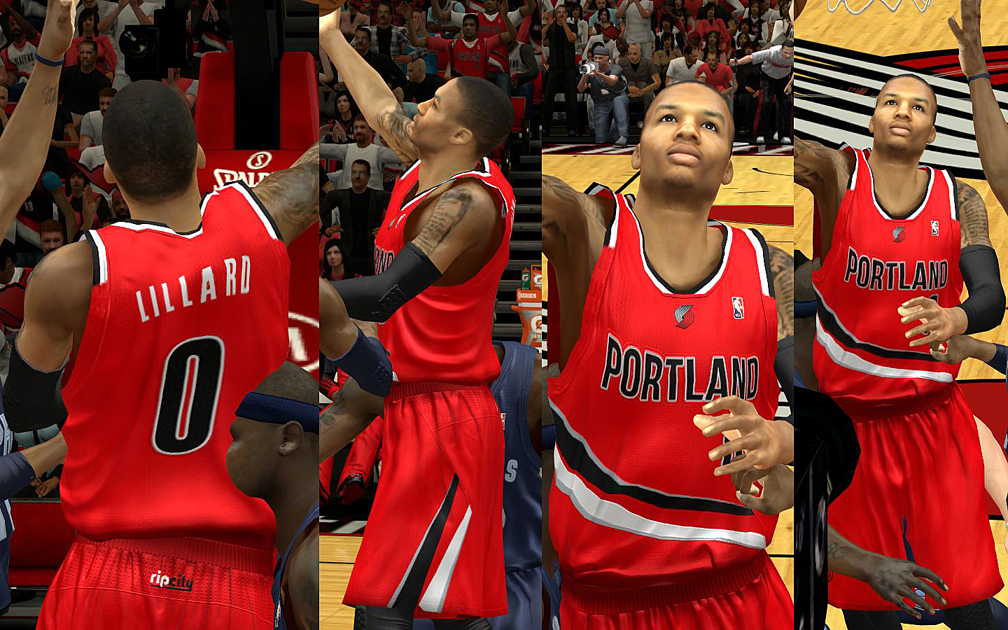 Portland Trailblazers Jersey with Crowd Fixed