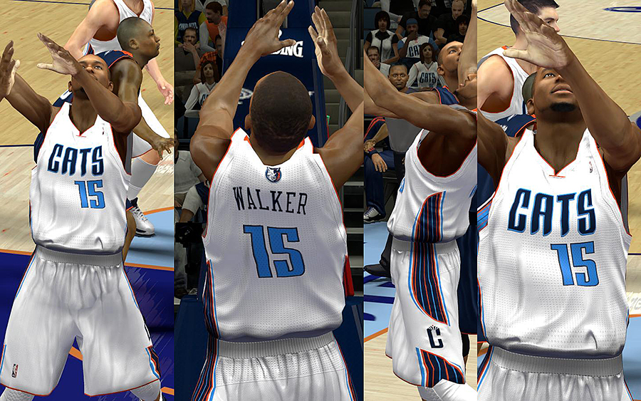 Charlotte Bobcats Jersey with Crowd Fixed
