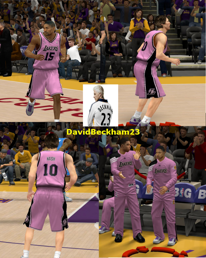 Los Angeles Lakers Breast Cancer Awareness Jersey