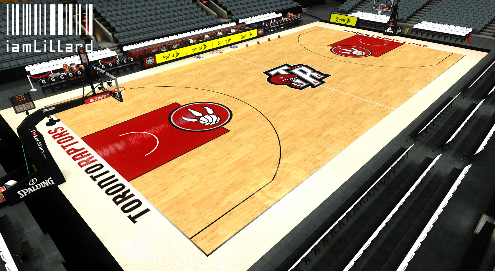 Toronto Raptors Fictional Court