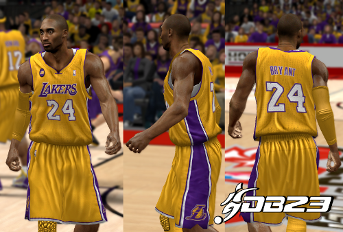 Los Angeles Lakers Jersey Pack with JB Patch
