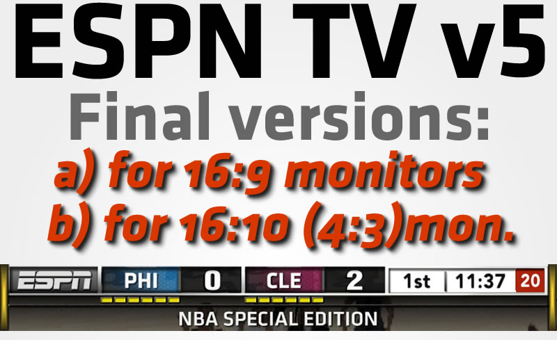 ESPN TV v5 for 16:9 Monitors