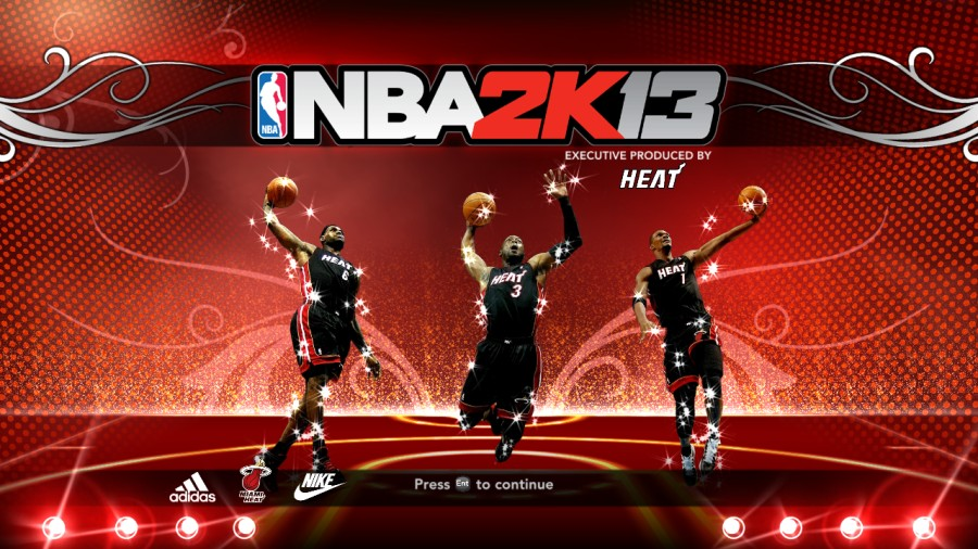 Miami Heat Big 3 Title Screen