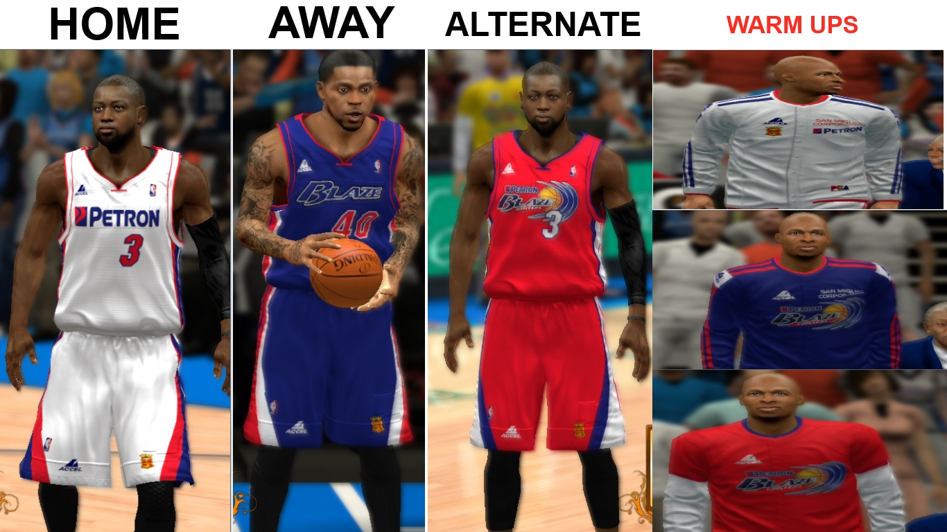 PBA Petron Blaze Fictional Jerseys