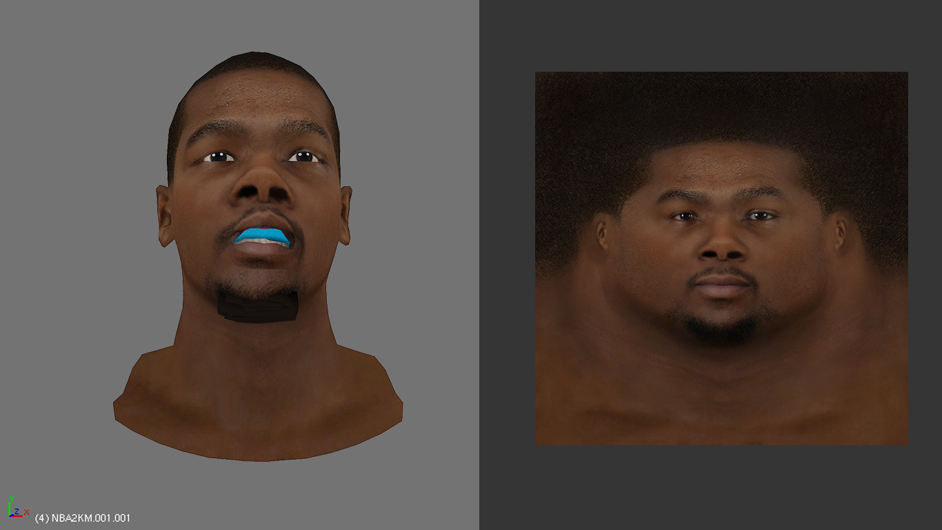 Kevin Durant Face with Mouth Guard