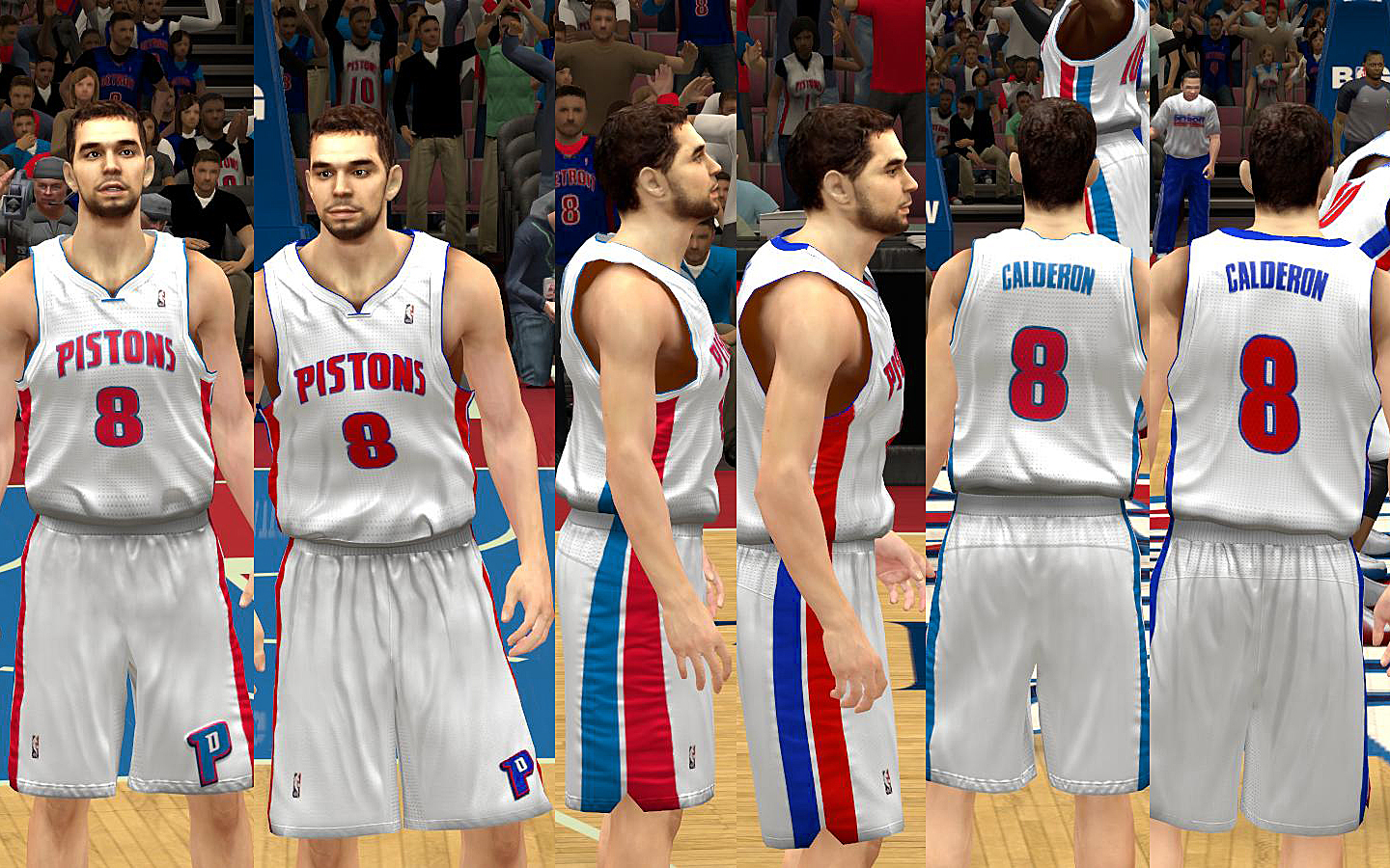 ... Detroit Pistons Jersey with Crowd Fixed ... 2459672d9