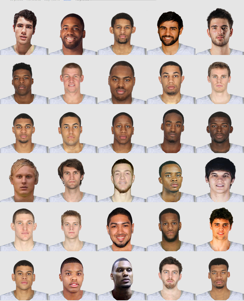 2013 Draft Portraits (Second Round)