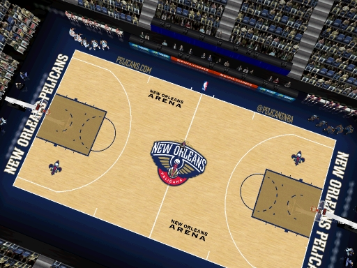 New Orleans Pelicans 2013/2014 Court Patch