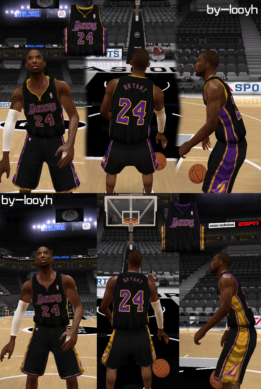 Los Angeles Lakers Black Jerseys Patch