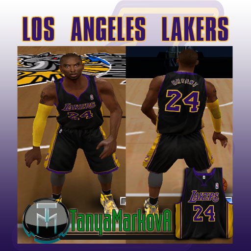 06a87f55103 NLSC Forum • Downloads - Los Angeles Lakers Hollywood Black Jersey