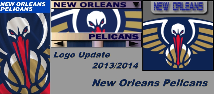 New Orleans Pelicans 2013/2014 Logo Patch
