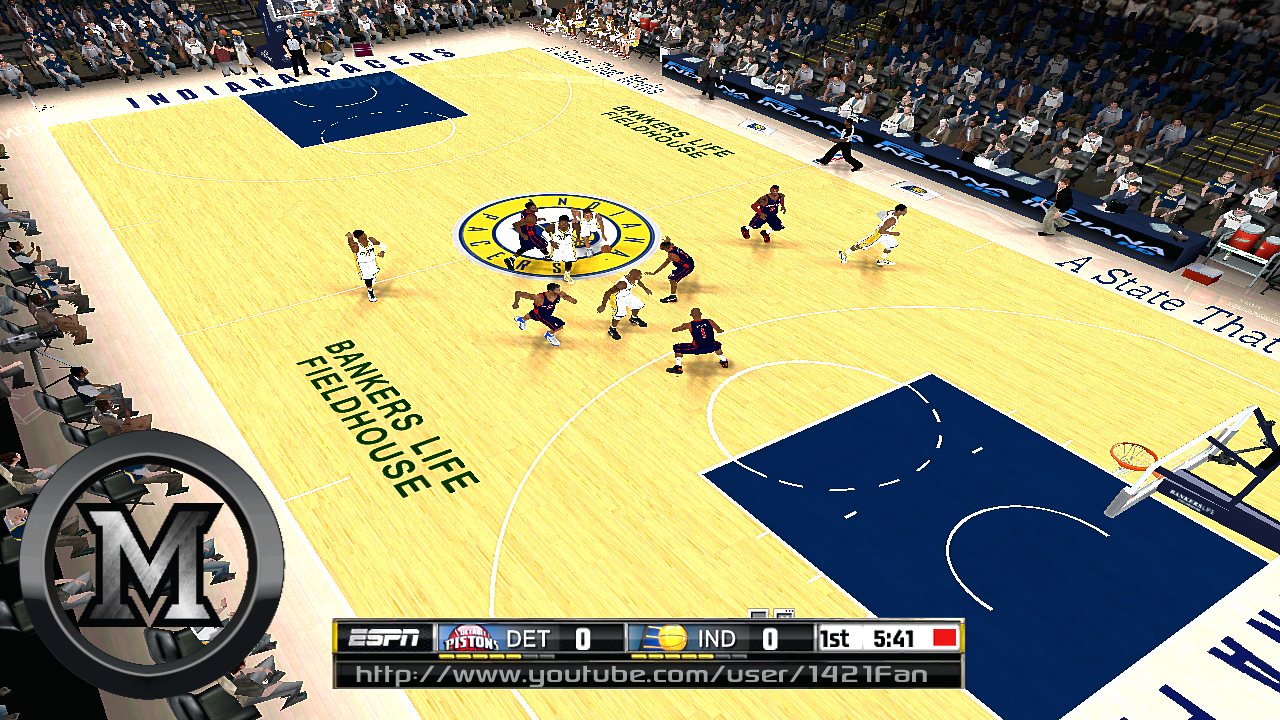Indiana Pacers 2013/2014 Court Patch