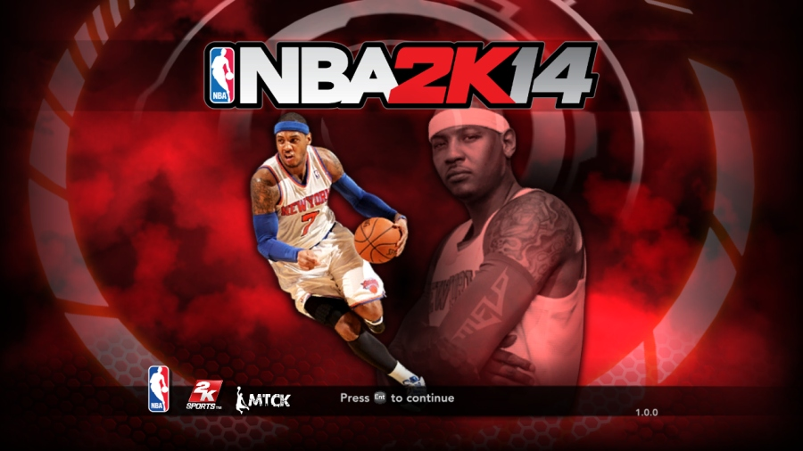 Carmelo Anthony Title Screen