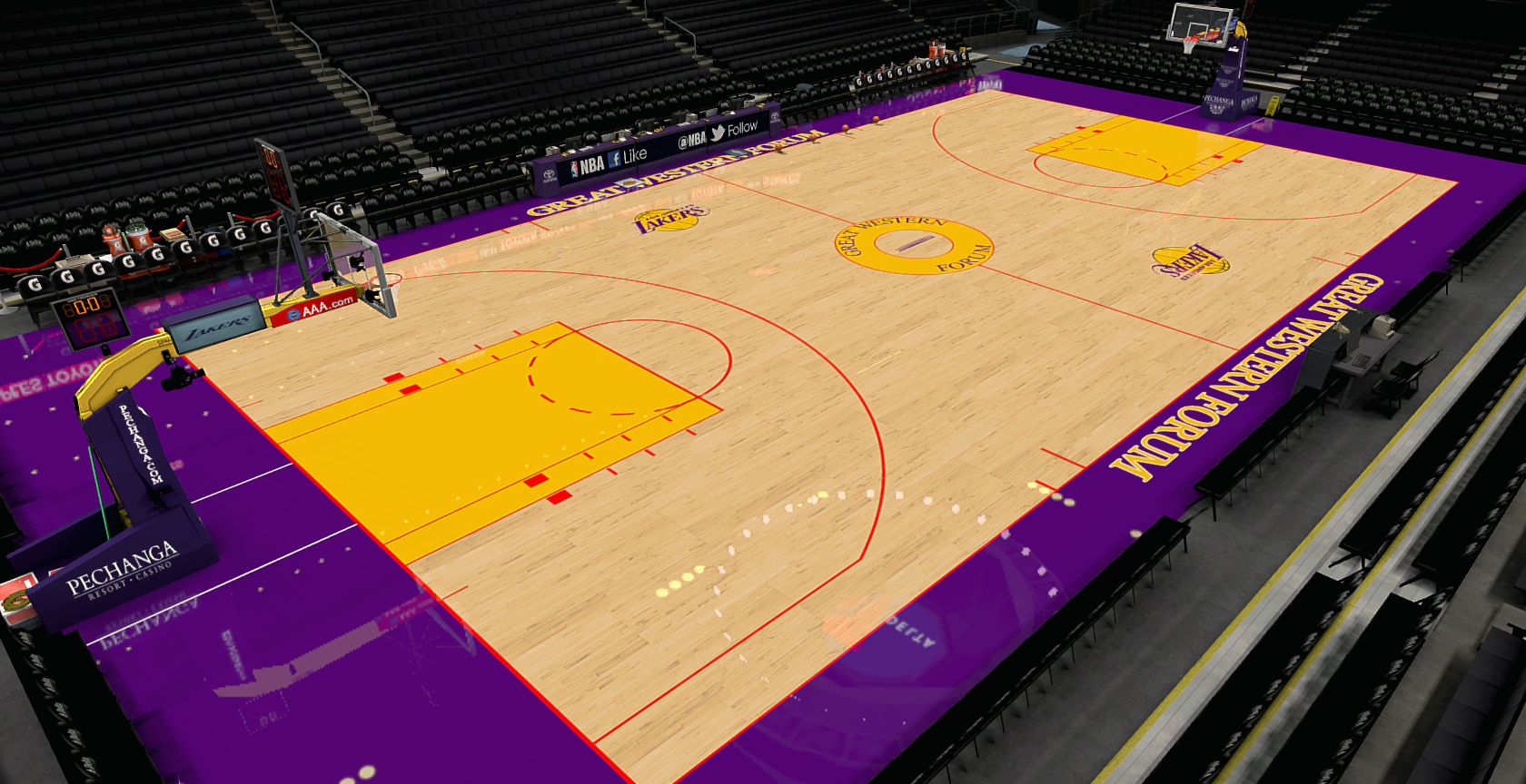 lakers nba basketball court