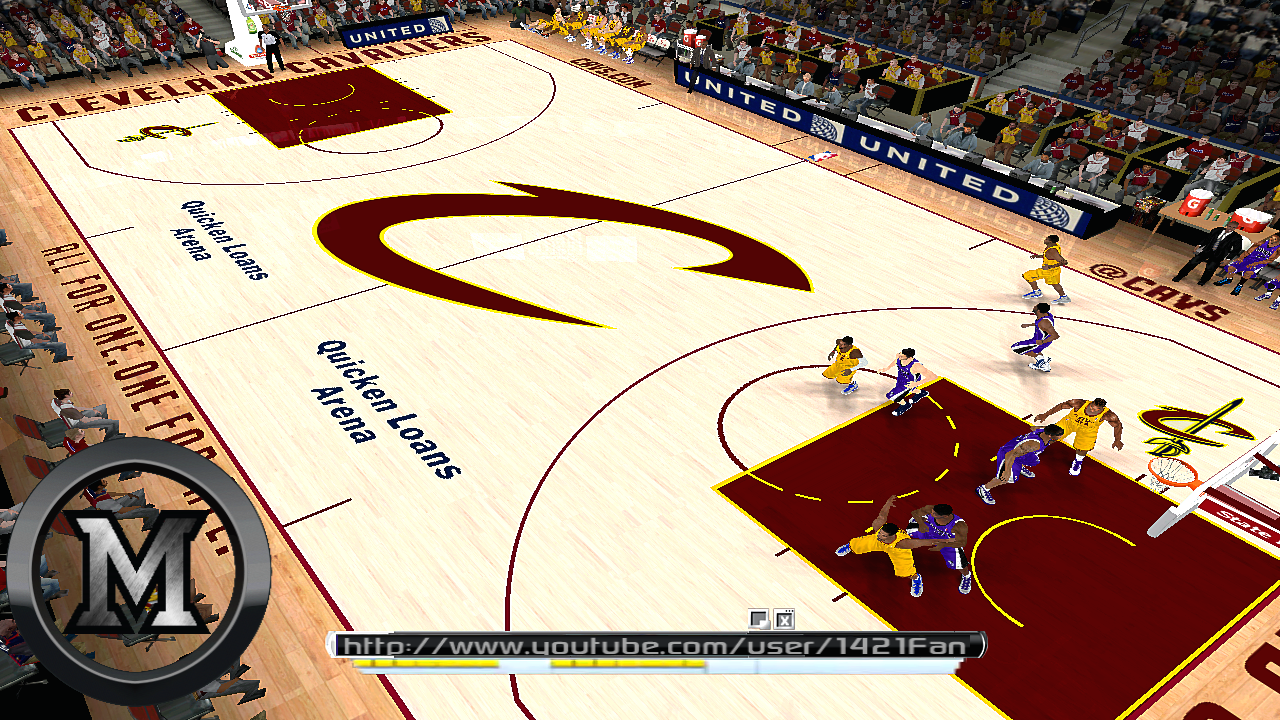 Cleveland Cavaliers 2013/2014 Court Patch