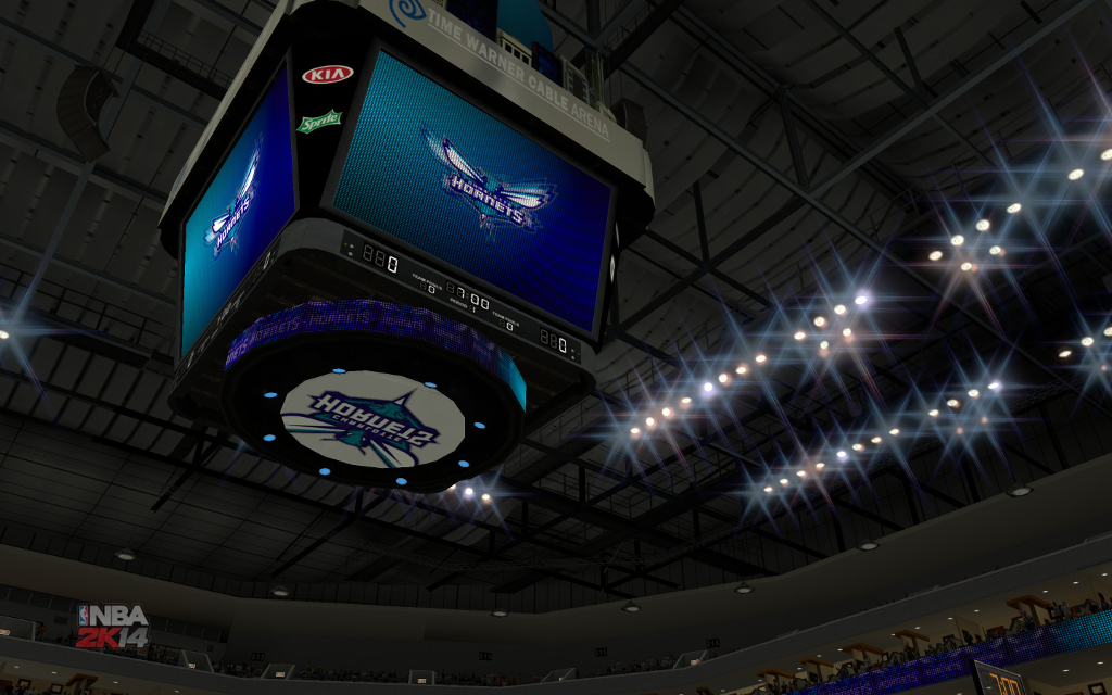 Charlotte Hornets Logos, Court and Stadium Conversion