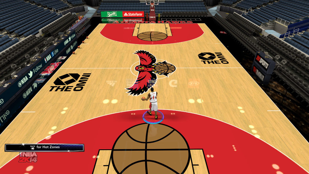 1996 Atlanta Hawks Court