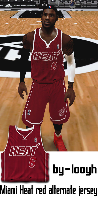 Miami Heat 2013/2014 Red Jersey Patch