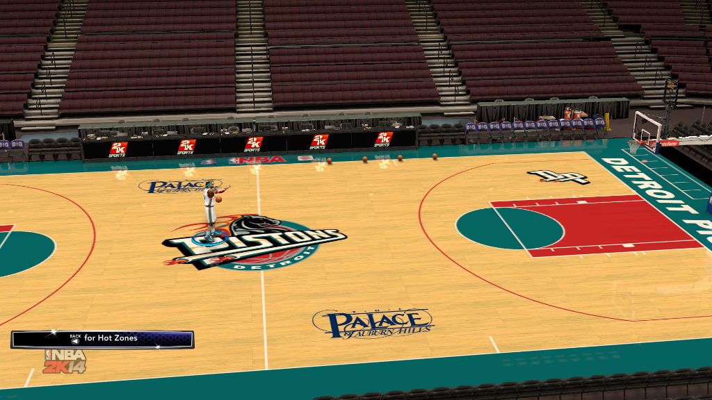 1996 Detroit Pistons Court