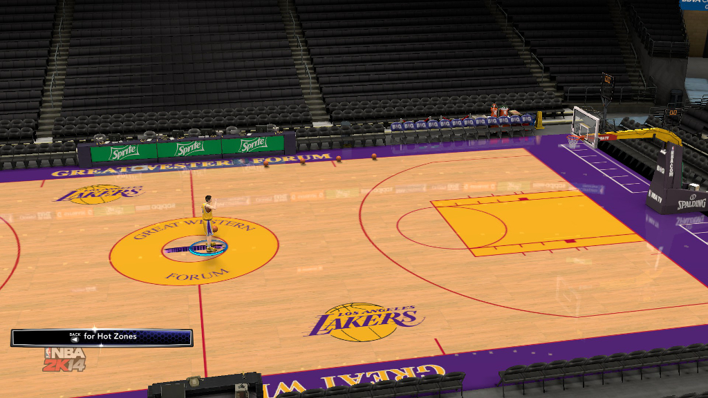 1996 Los Angeles Lakers Court