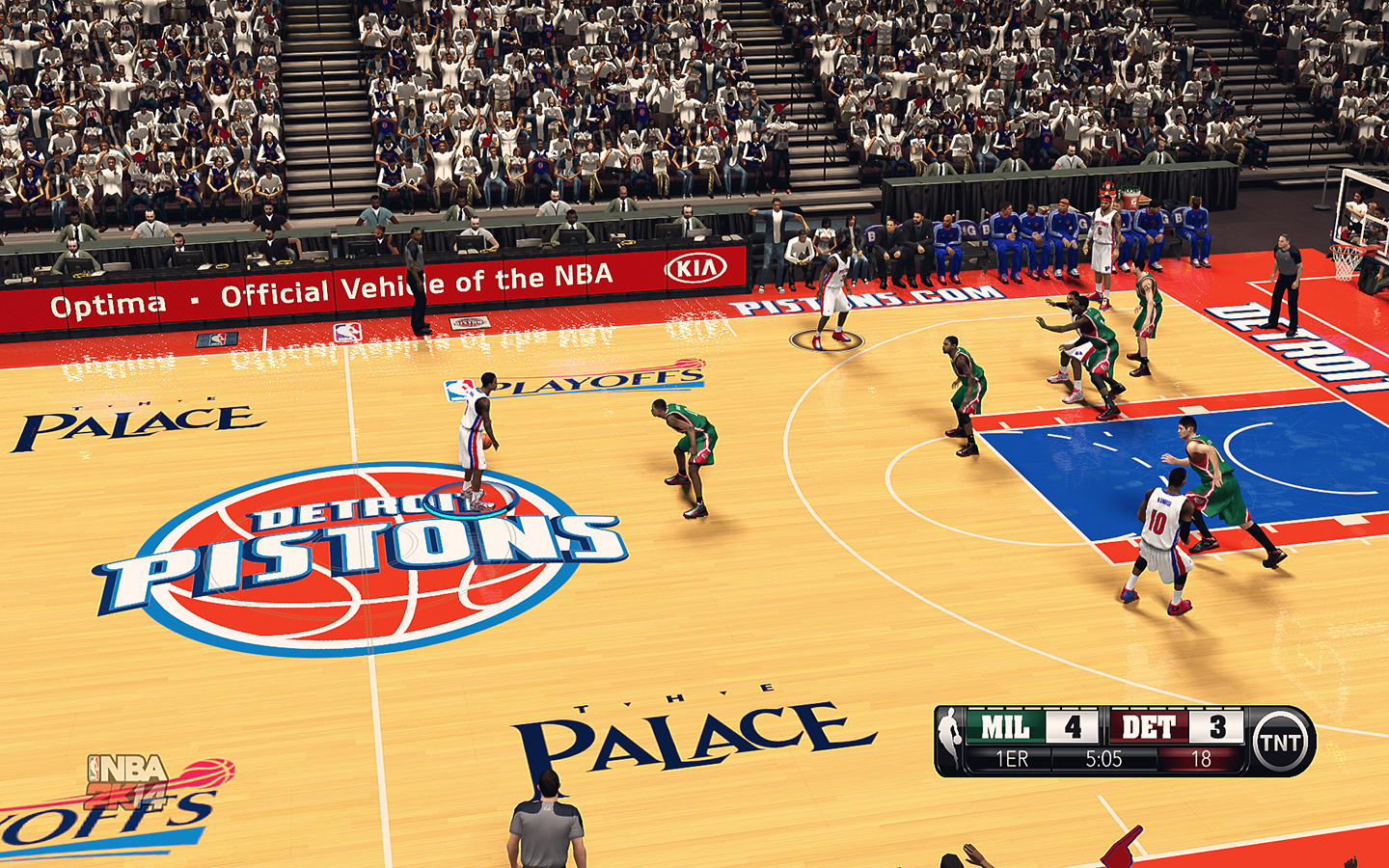 Detroit Pistons HD Court by stoeck