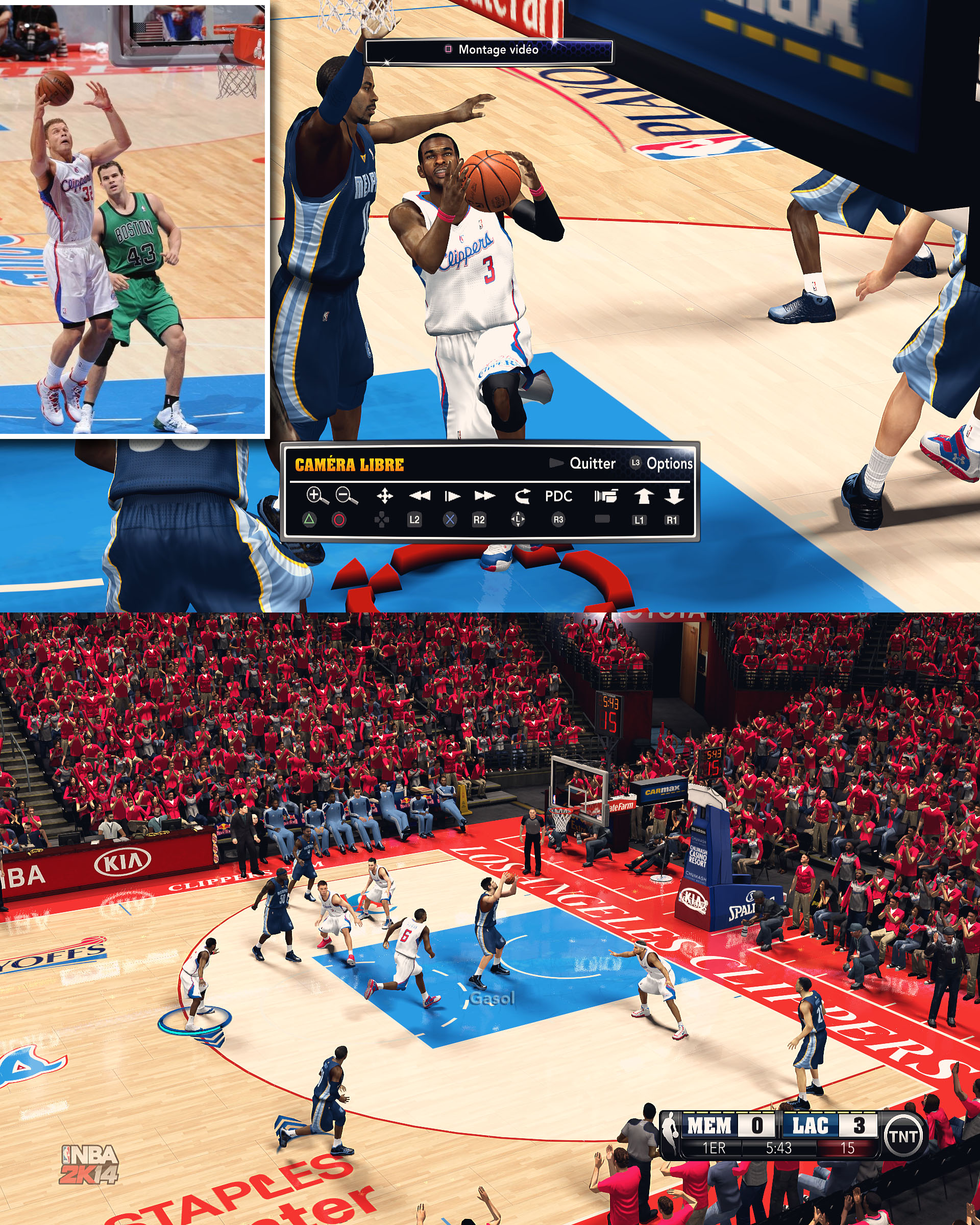 Los Angeles Clippers HD Court by stoeck