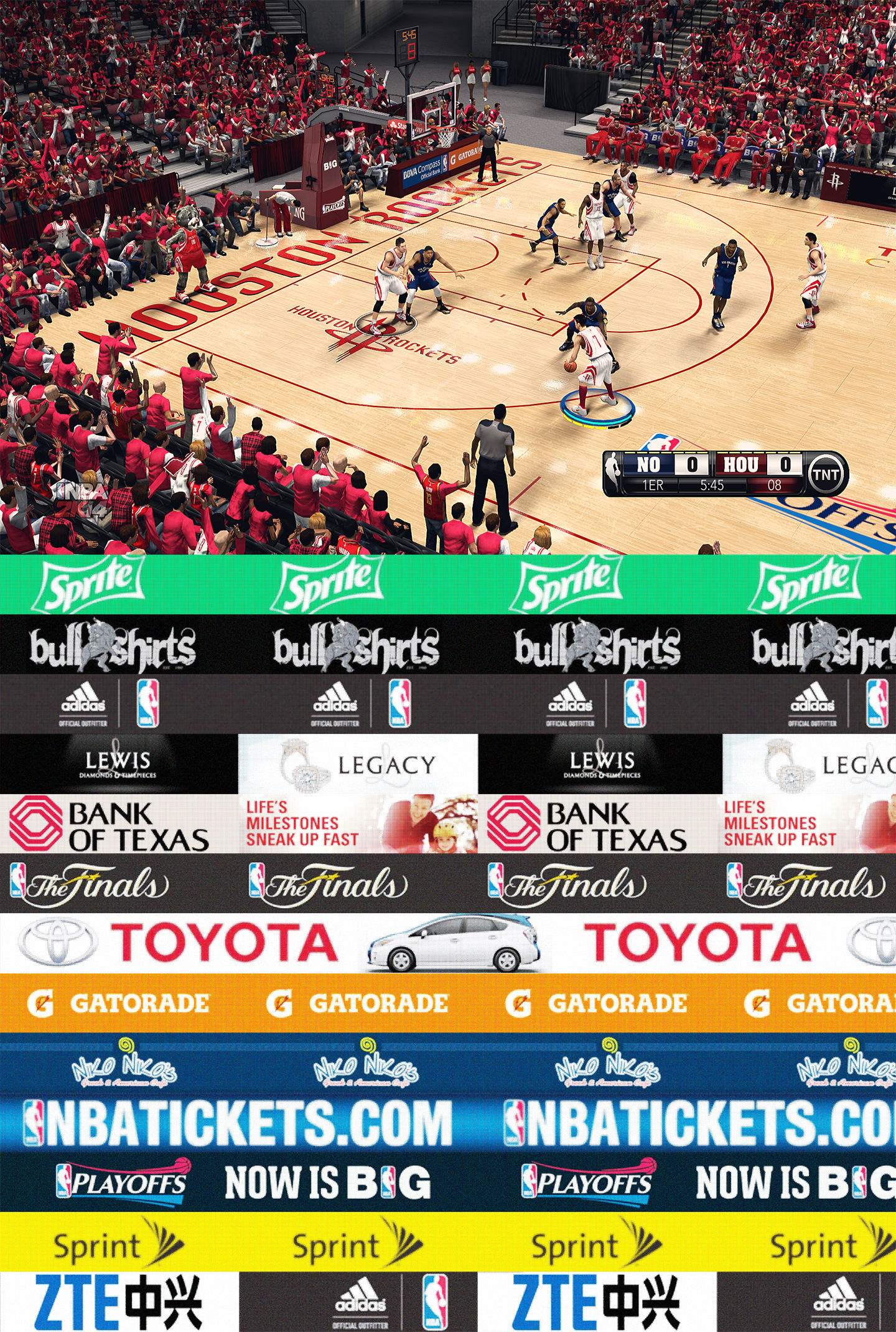 Houston Rockets HD Court by stoeck