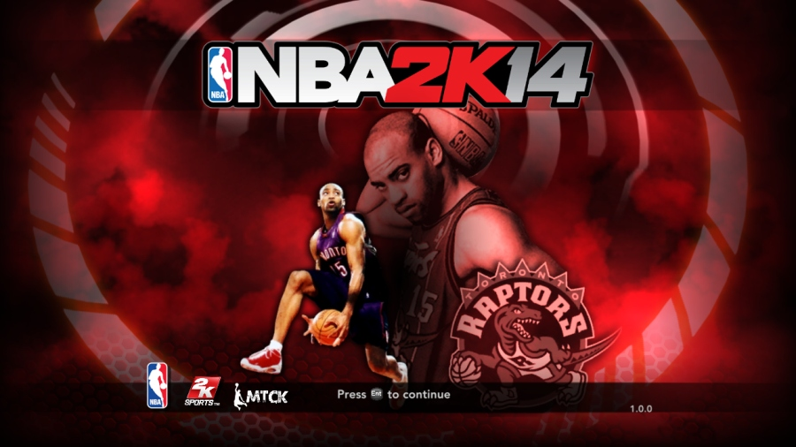 Vince Carter (Raptors Edition) Title Screen