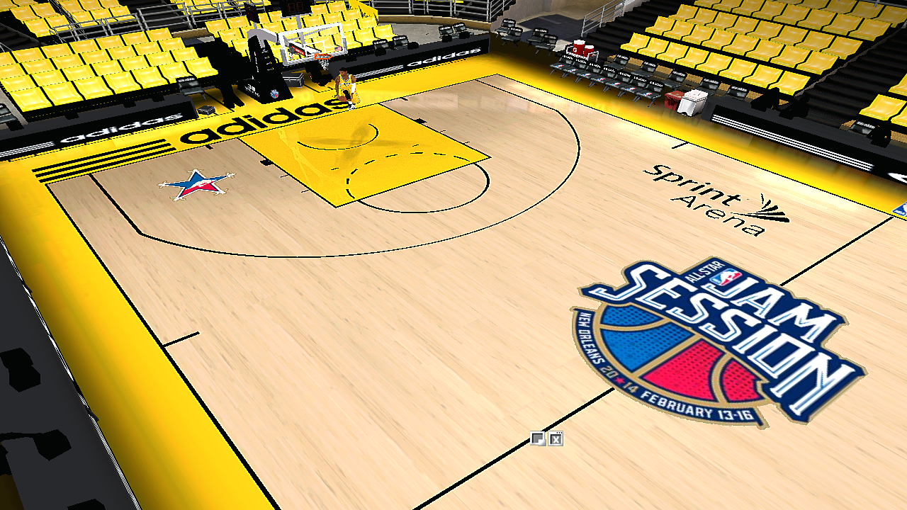 2014 NBA All-Star Practice Court