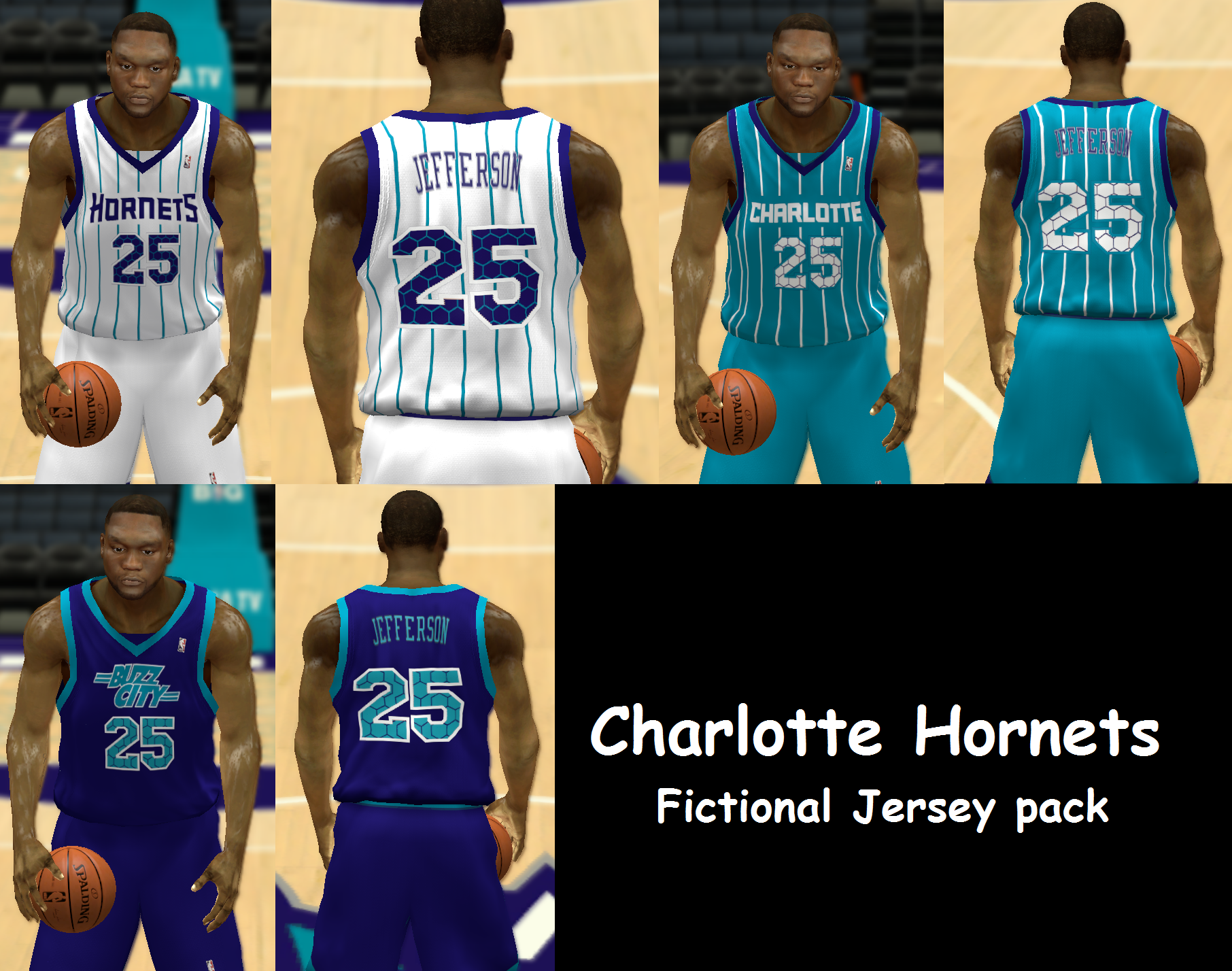 Charlotte Hornets Fictional Jersey Pack
