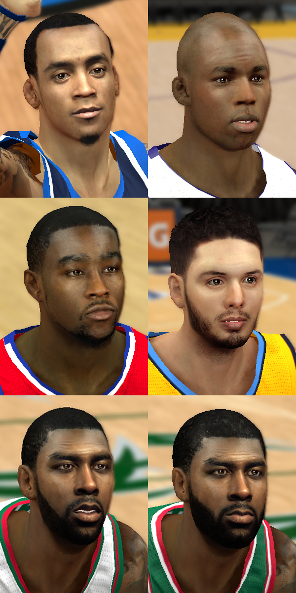 Shooting Guard Face Pack #1