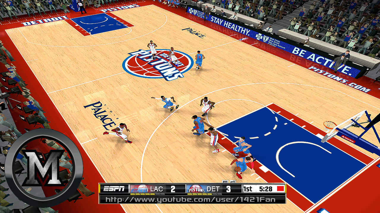 Detroit Pistons 2013/2014 Court Patch