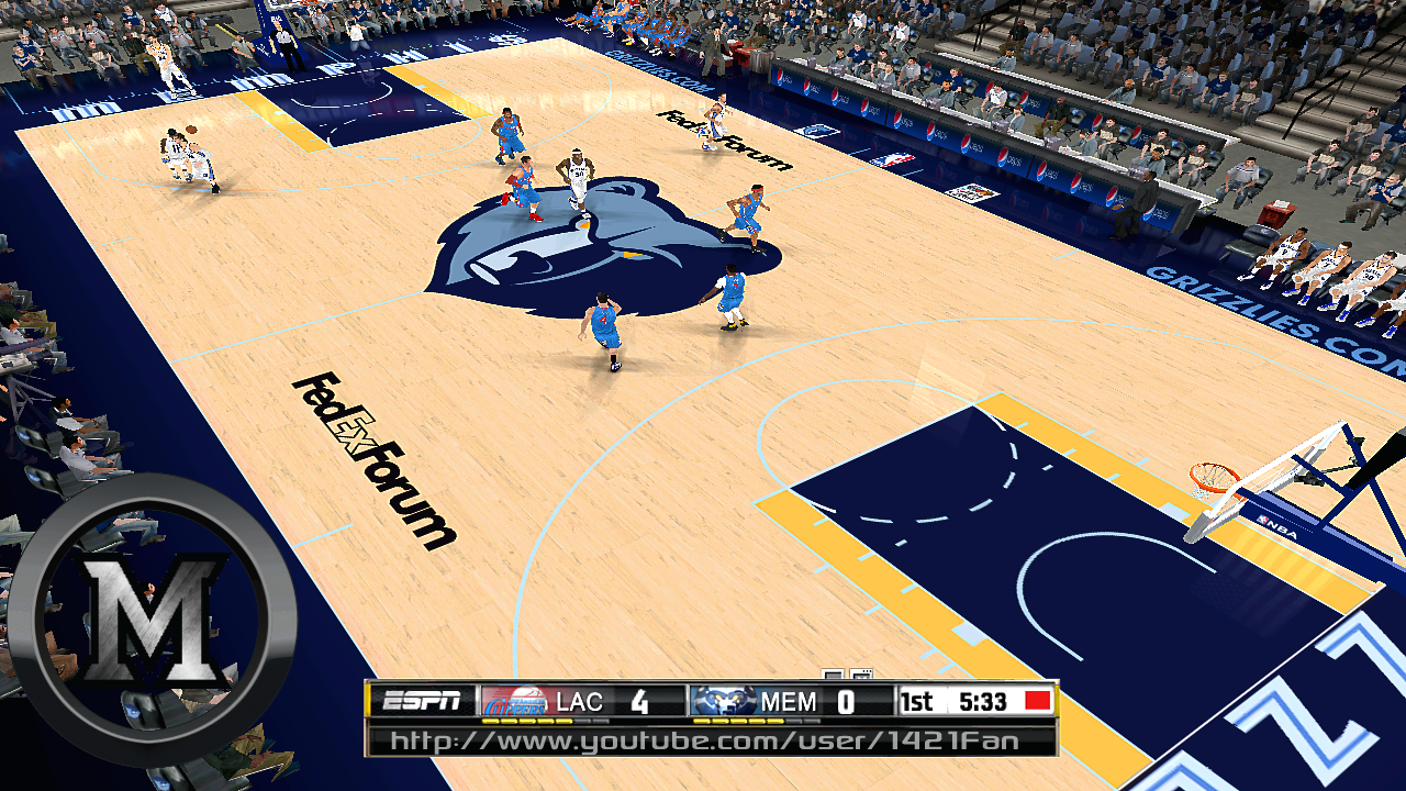 Memphis Grizzlies 2013/2014 Court Patch