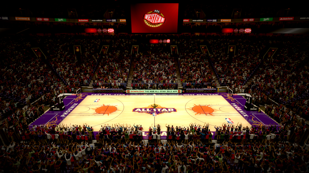 2009 NBA All-Star Court in Phoenix