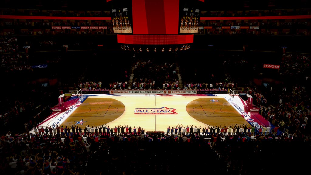 2011 NBA All-Star Court in Los Angeles