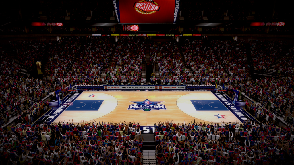 2010 NBA All-Star Court in Dallas