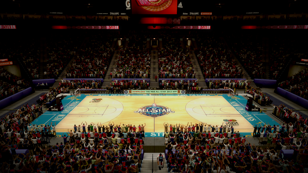 2008 NBA All-Star Court in New Orleans