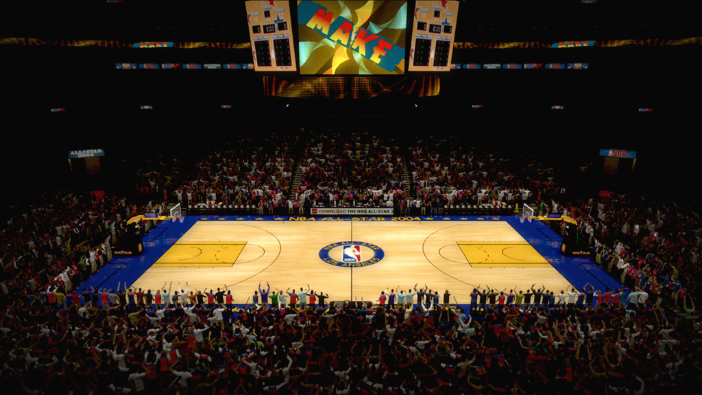 2004 NBA All-Star Court in Los Angeles